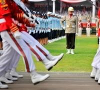 Jokowi Pimpin Apel Kehormatan di TMP Kalibata