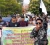 Usai dilantik, DPRD kota Pekanbaru di demo Mahasiswa
