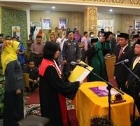 Pelantikan Pimpinan DPRD Pelalawan, Bupati Harris Harapkan Kritikan dan Masukan Legislatif
