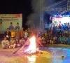 Sukses Digelar, Jambore KNPI Pelalawan Ditutup Dibawah Guyuran Hujan Deras
