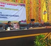 Dipimpin Ketua DPRD Sementara, Pimpinan Defenitif dan Susunan Lengkap Fraksi DPRD Pekanbaru 2019-2024 Terbentuk