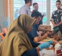 Peduli antar sesama, 50 Orang kader IPK Provinsi Riau lakukan Donor Darah