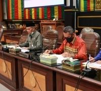 Rapat Kerja Gabungan DPRD Bersama Tim Gugus Tugas Covid-19 Pekanbaru Berjalan Alot