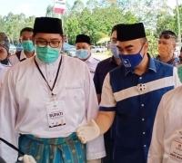 Targetkan menang, Pasangan Abu Mansyur Matridi-Habibi mendaftar ke KPU Pelalawan