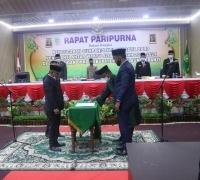 Laksanakan Rapat Paripurna, Sopandi Resmi Dilantik Sebagai PAW Anggota DPRD Kepulauan Meranti