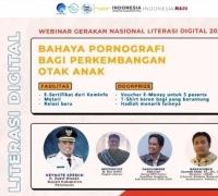 Webinar Gernas Literasi Digital di Pelalawan paparkan Bahaya Pornografi Bagi Perkembangan Otak Anak